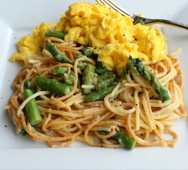 Scrambled Egg Pasta Healthy Recipe