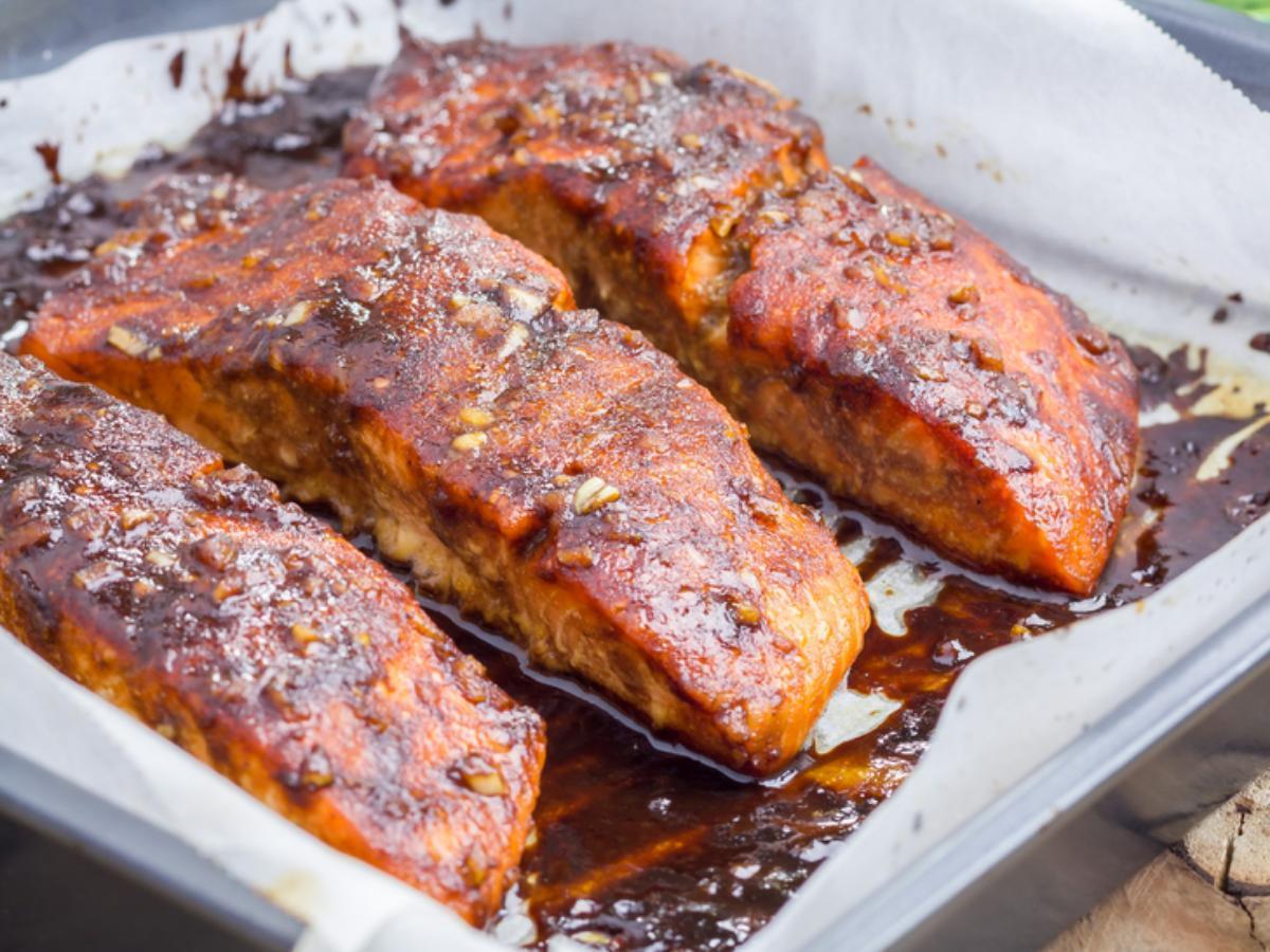 Seared Salmon with Balsamic Glaze Healthy Recipe