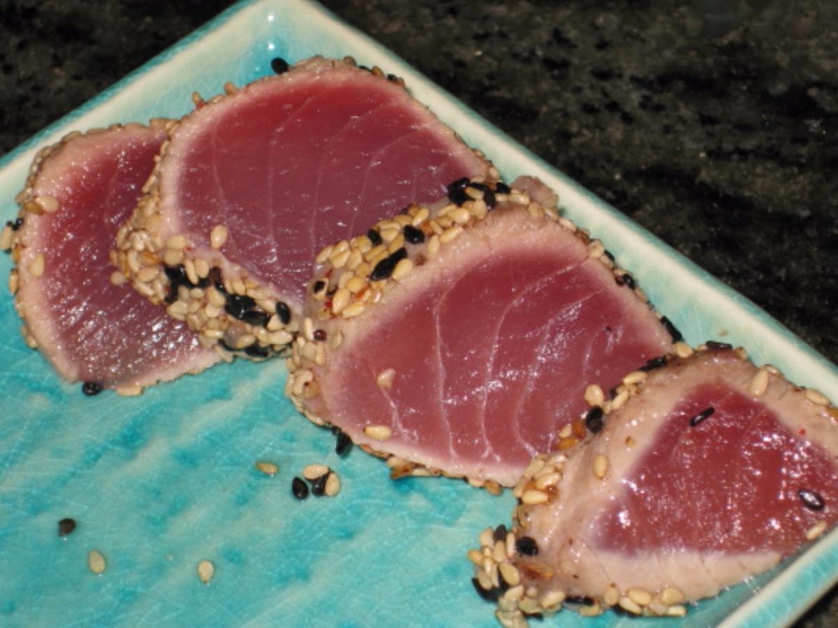 Seared Sesame-Crusted Tuna Healthy Recipe
