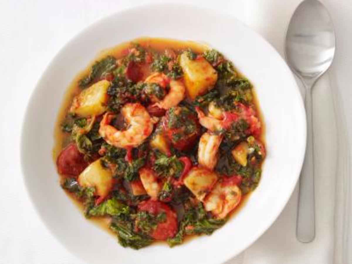 Shrimp and Chorizo soup Healthy Recipe