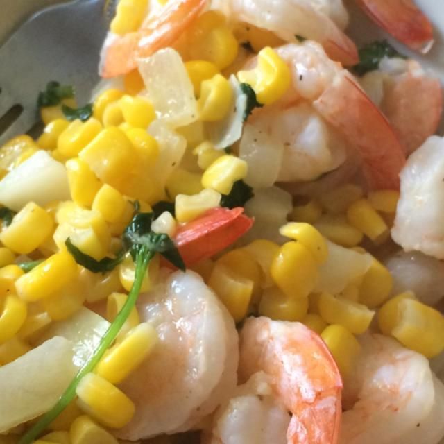 Shrimp and Corn with Basil Healthy Recipe