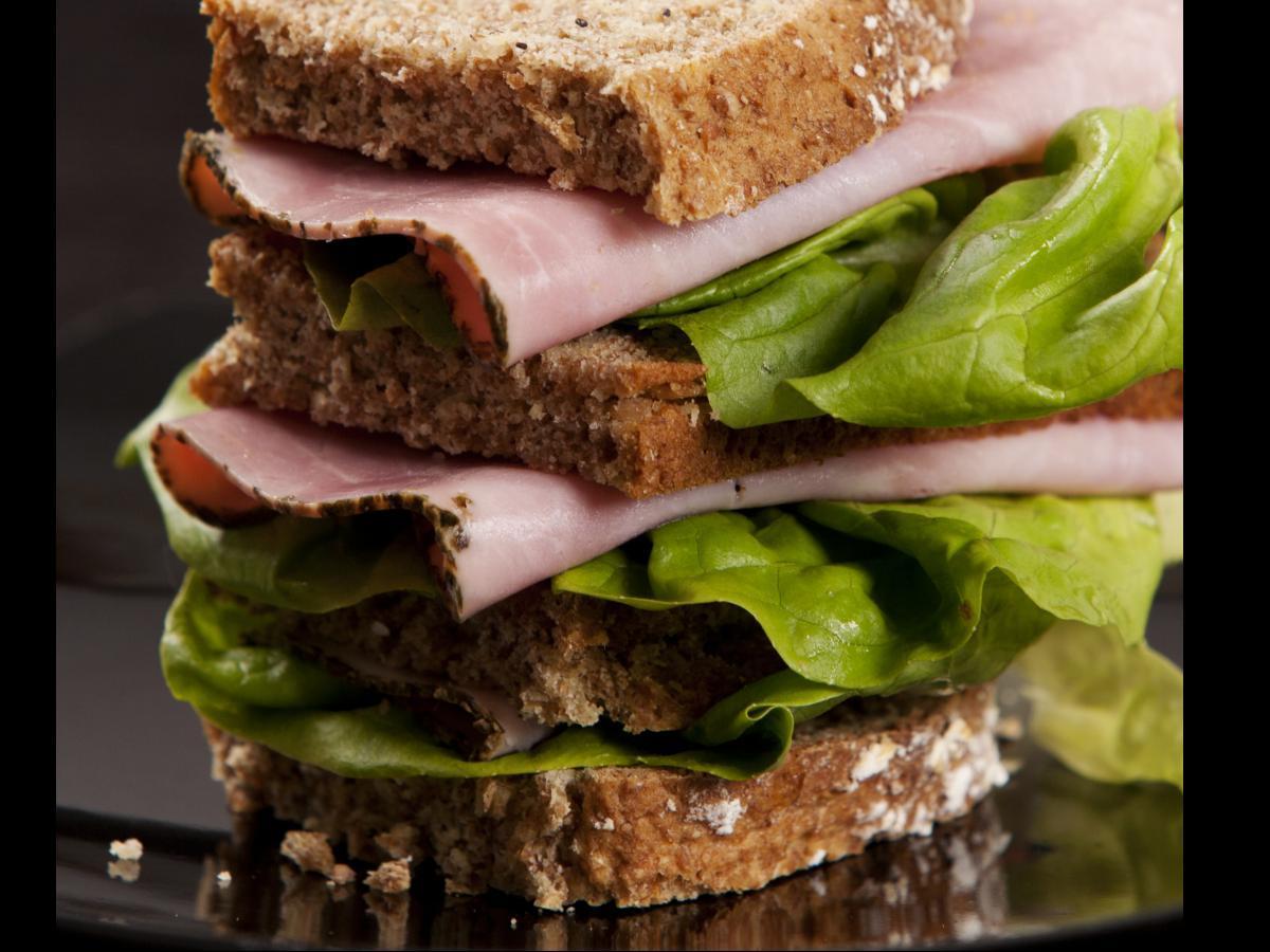 Simple Ham and Lettuce Sandwich Healthy Recipe