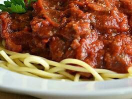 Simple Spaghetti and Meat Sauce Healthy Recipe
