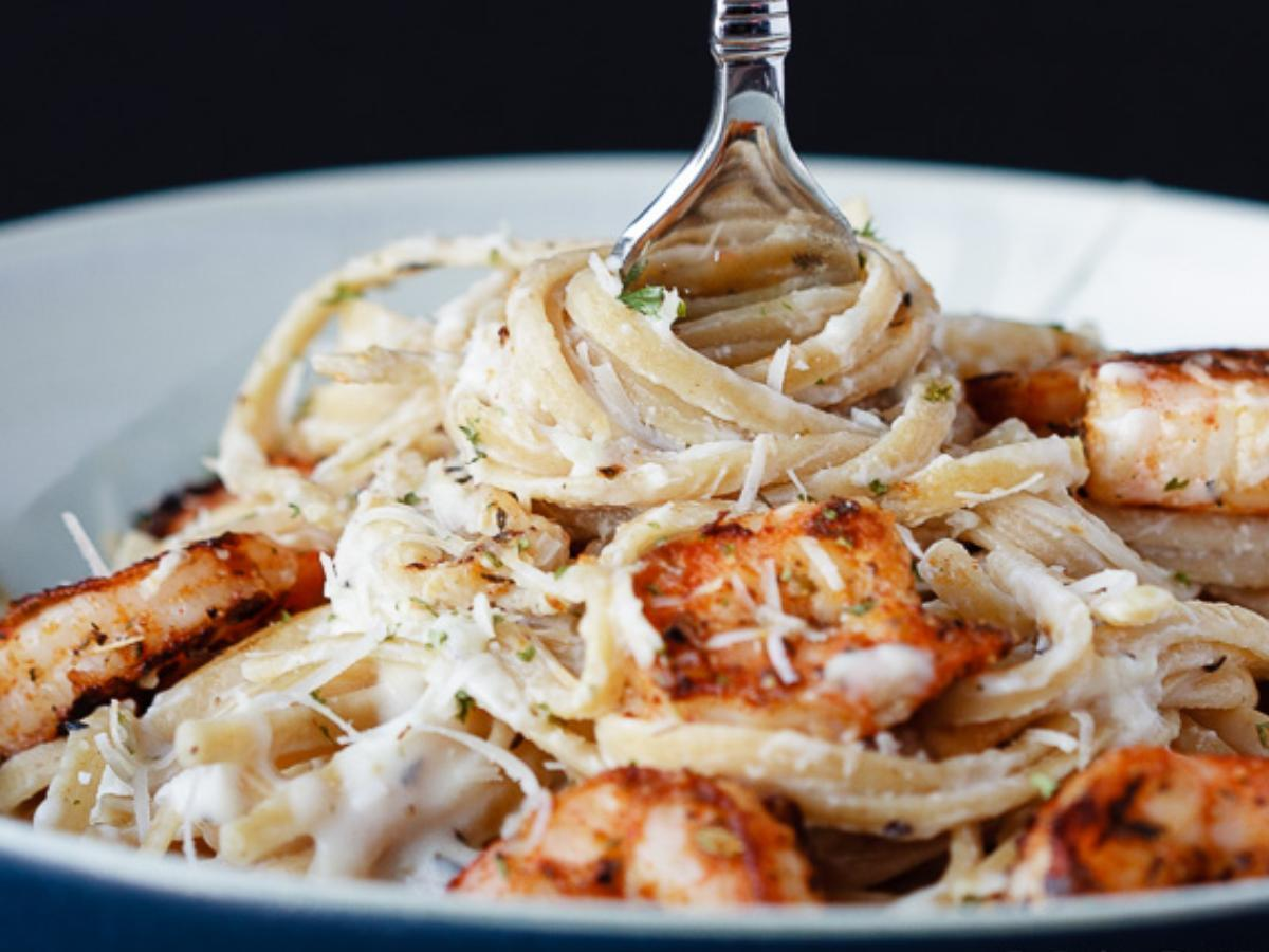 Skinny Cajun Shrimp Alfredo Pasta Healthy Recipe