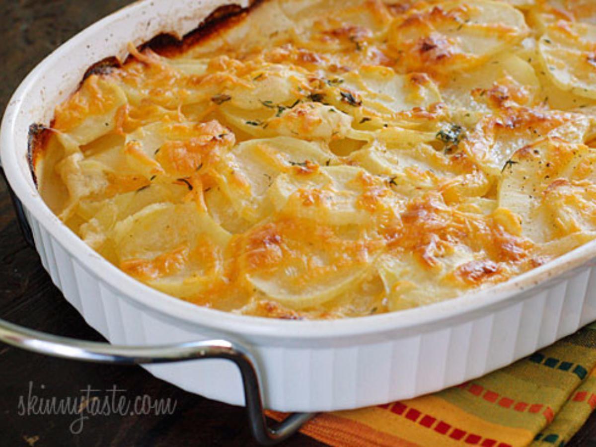 Skinny Scalloped Potato Gratin Healthy Recipe