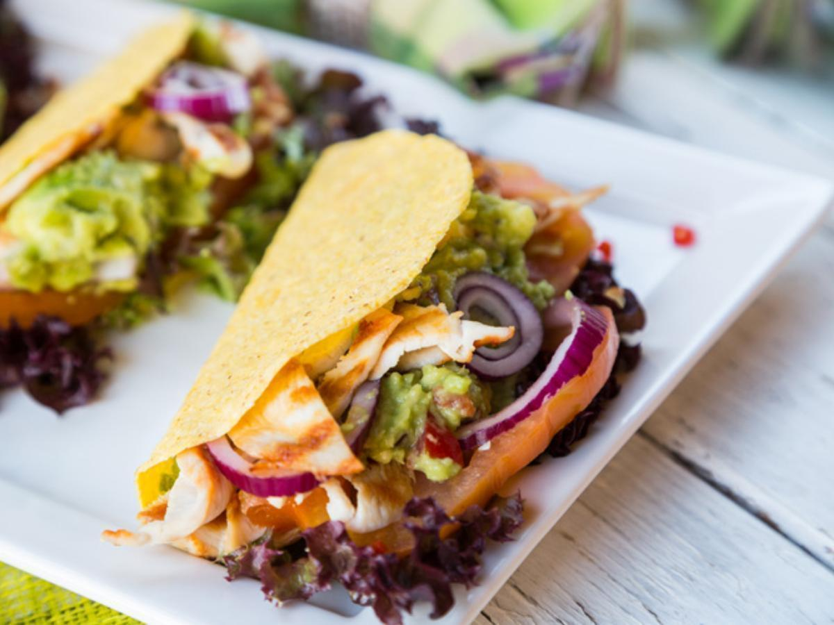 Skinny Tacos with Guacamole and Grilled Chicken Healthy Recipe