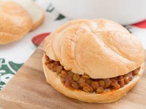 Sloppy Lentils Sandwich Healthy Recipe