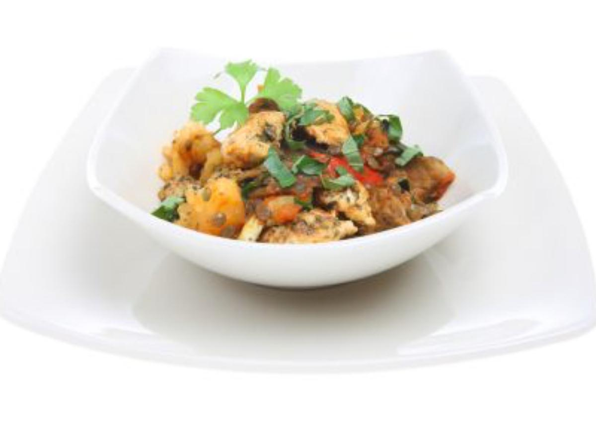 Slow Cooker Moroccan Chicken and Lentils Healthy Recipe
