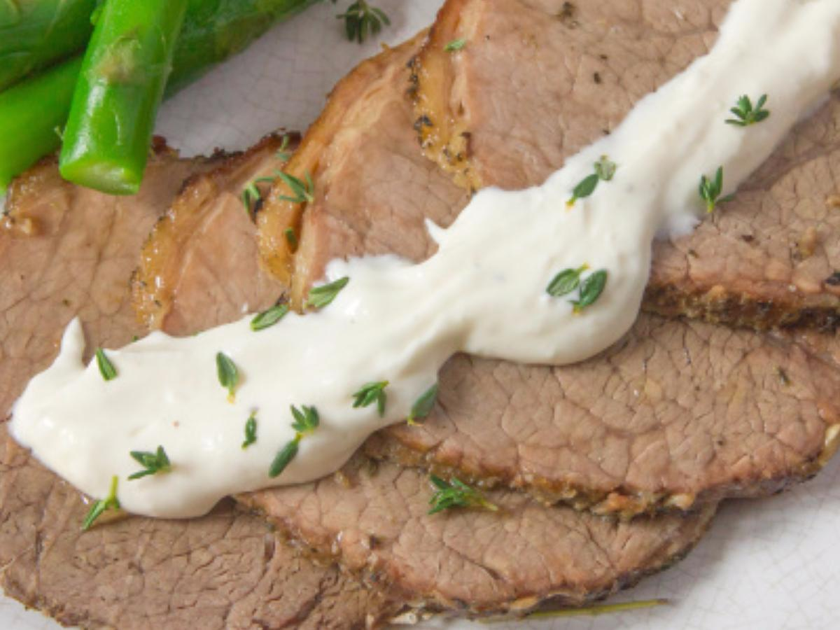 Slow Cooker Pot Roast with Horseradish Sauce Healthy Recipe