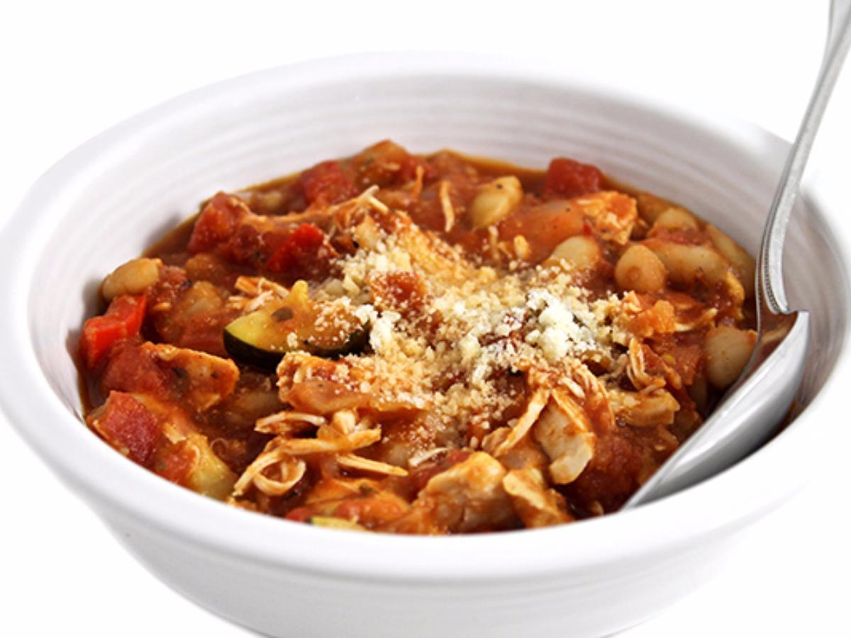Slow-Cooker Tuscan Chicken and Beans Healthy Recipe