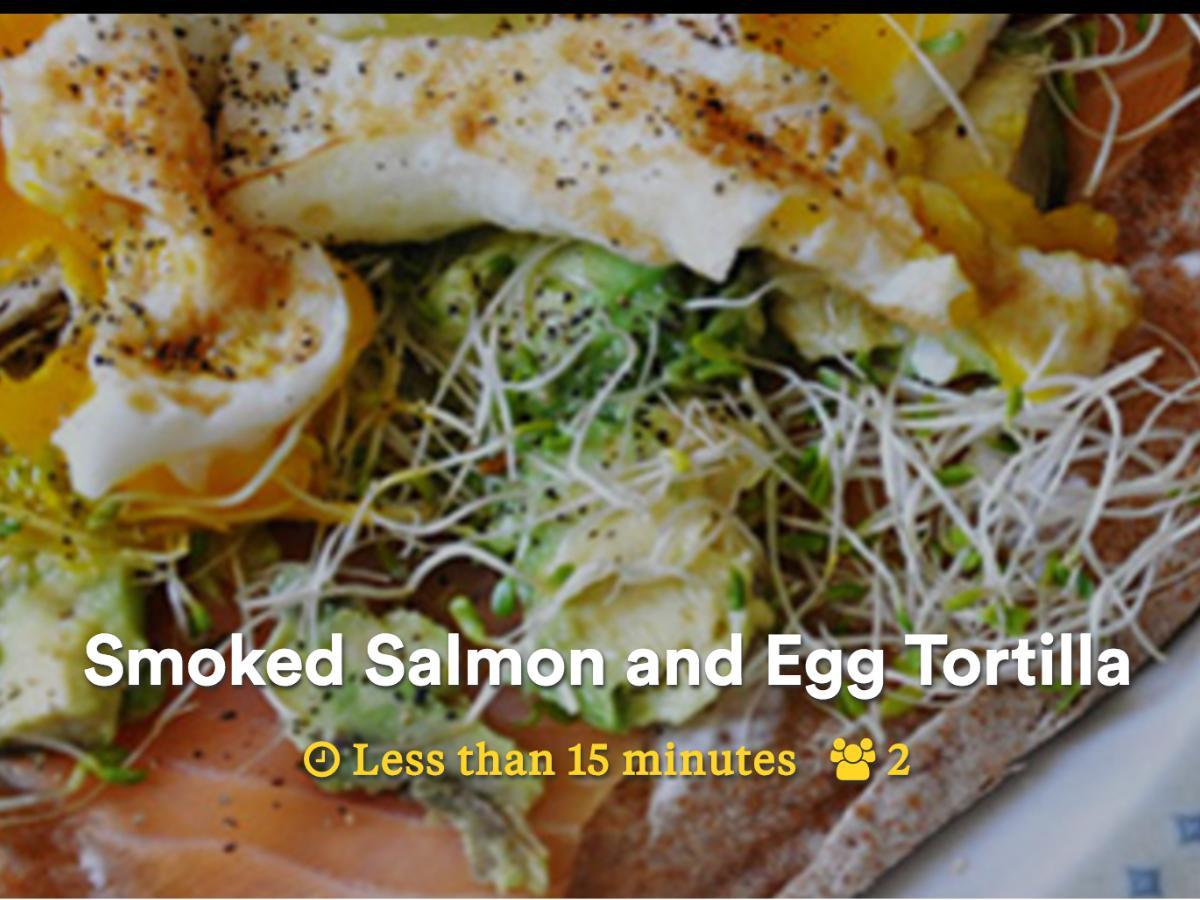 Smoked Salmon and Egg Tortilla Healthy Recipe