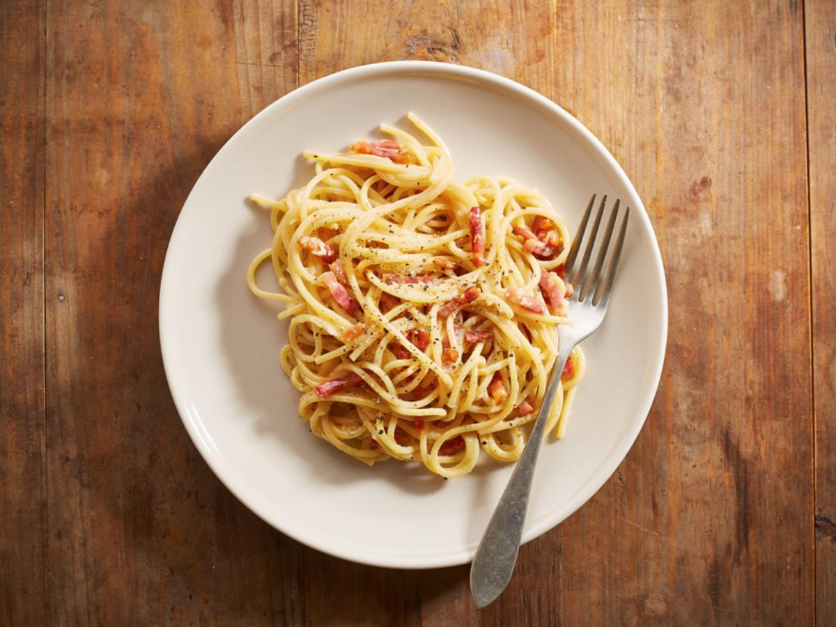 Spaghetti Carbonara Healthy Recipe