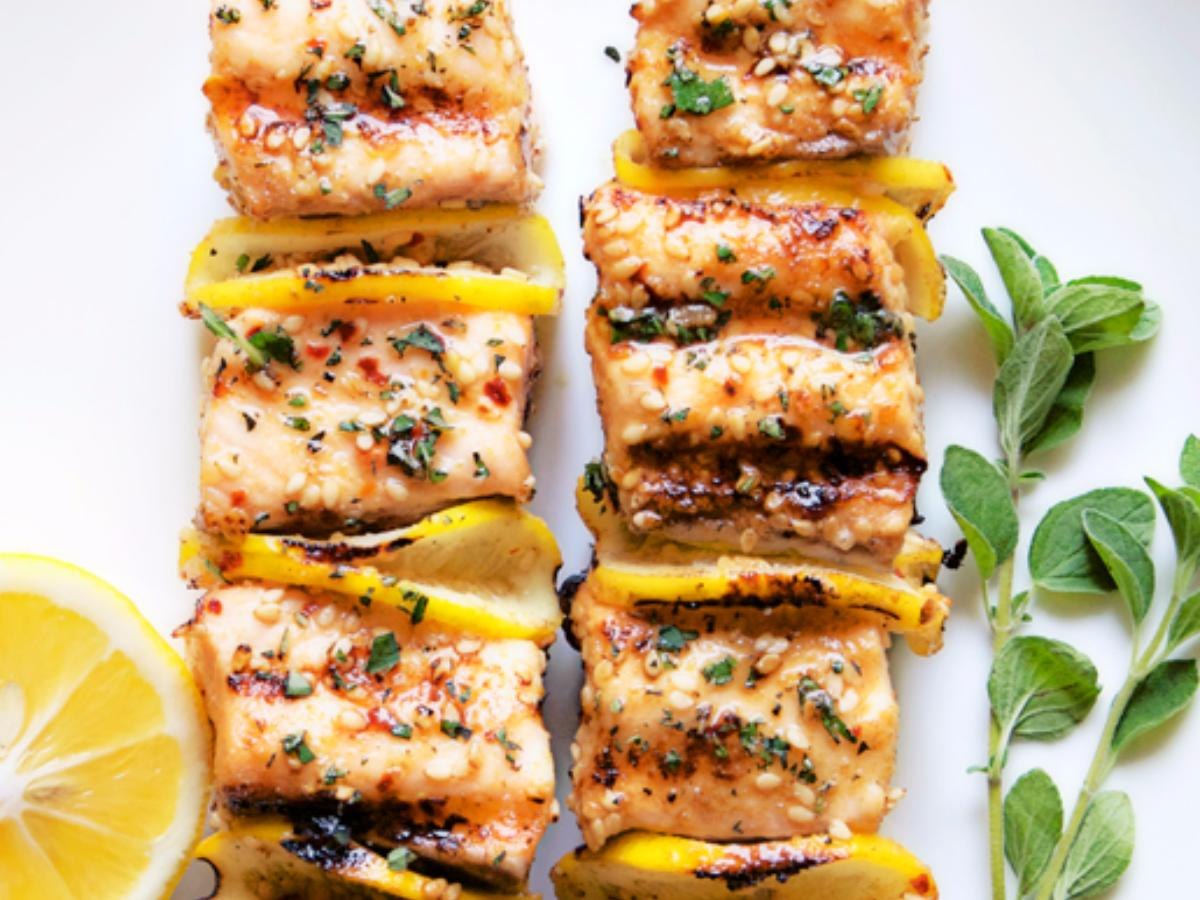 Spiced Salmon Kebabs Healthy Recipe