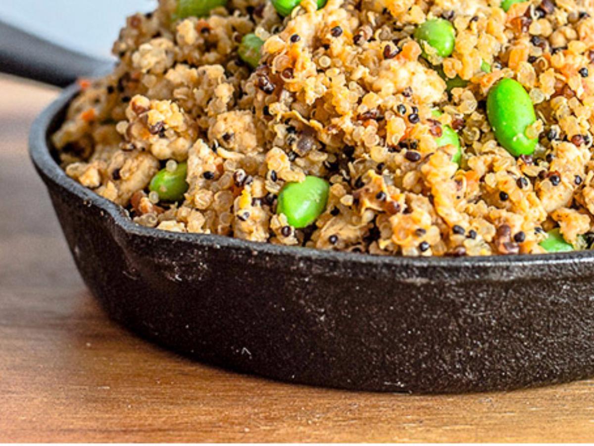 Spicy Chicken Fried Quinoa Healthy Recipe