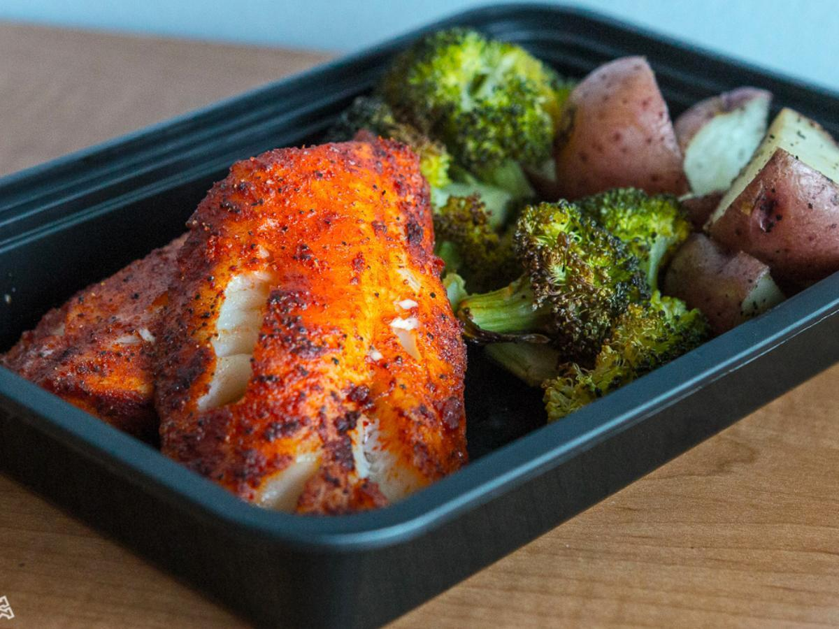 Spicy Cod, Roasted Potatoes, and Broccoli Healthy Recipe