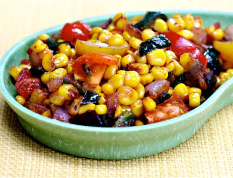 Spicy Corn and Peppers Healthy Recipe