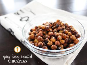 Spicy Honey Roasted Chickpeas Healthy Recipe
