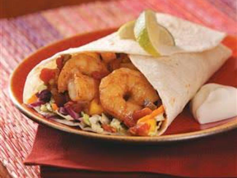 Spicy Shrimp Wrap Healthy Recipe
