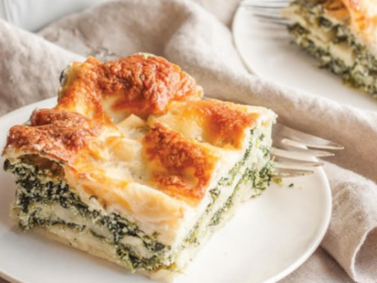 Spinach Alfredo Lasagna Healthy Recipe