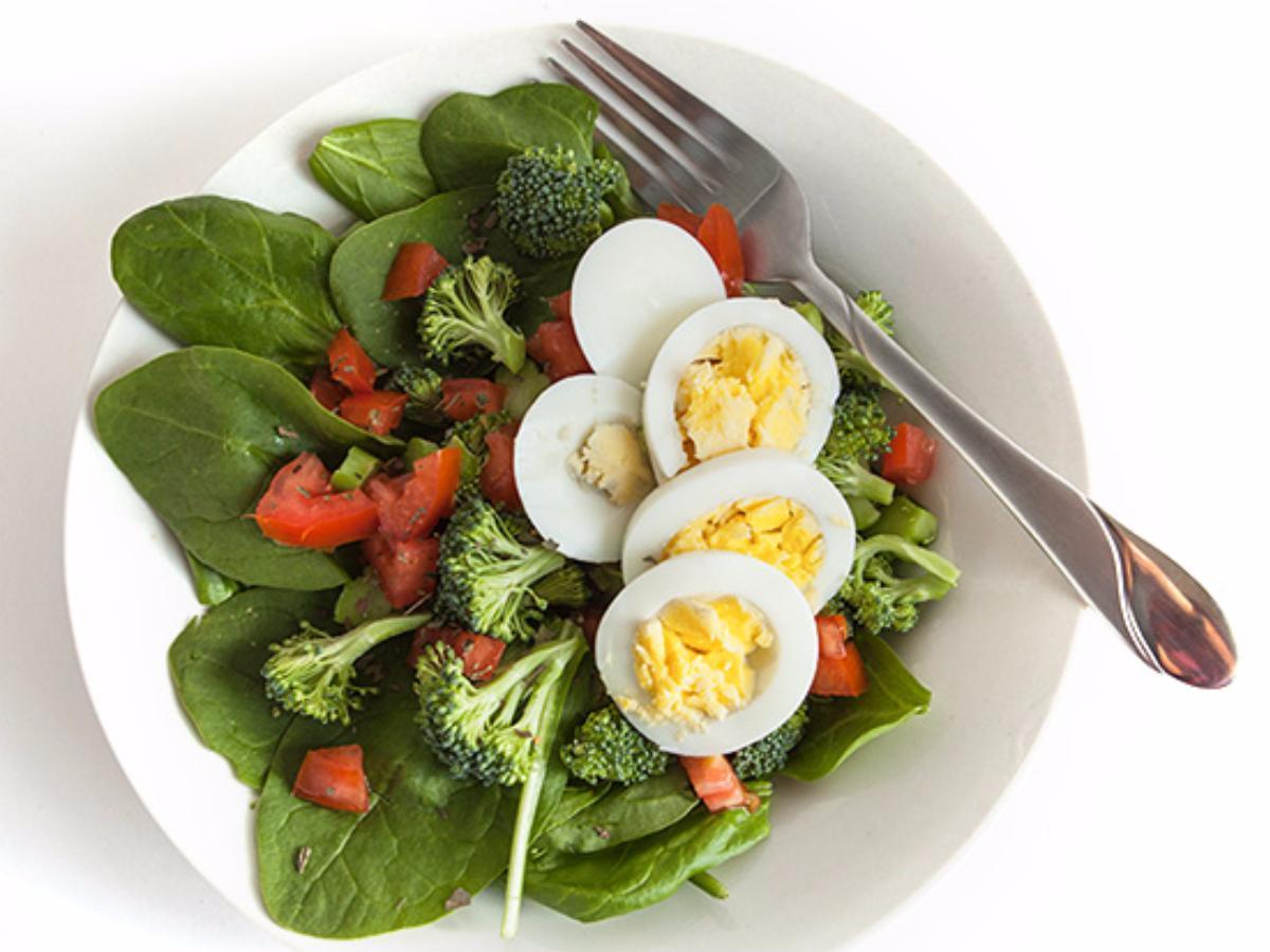 Spinach Almond Salad Healthy Recipe
