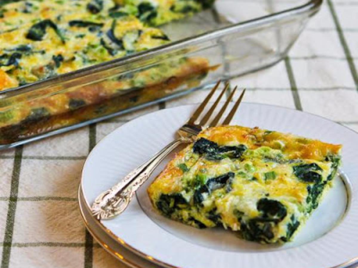 Spinach and Mozzarella Egg Bake Healthy Recipe