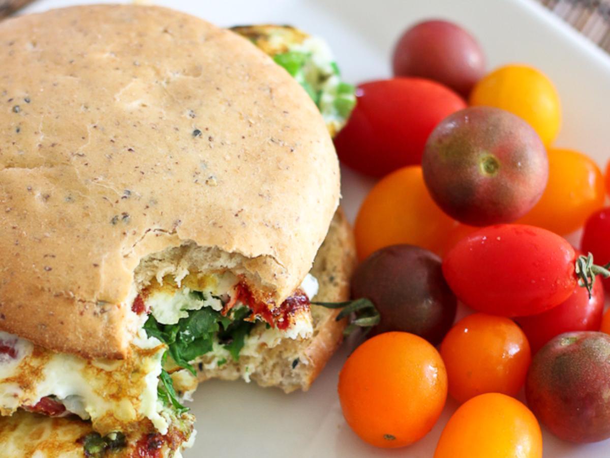 Spinach and Sun-dried Tomato Sandwich Healthy Recipe