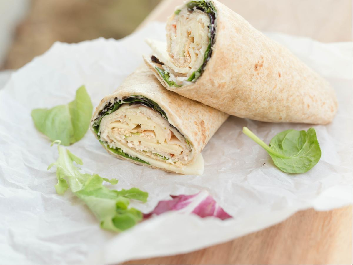 Spinach and Turkey Wrap Healthy Recipe