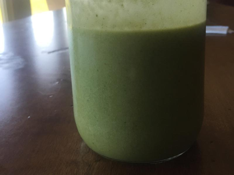 Spinach, Banana, and Peanut Butter Protein Shake Healthy Recipe