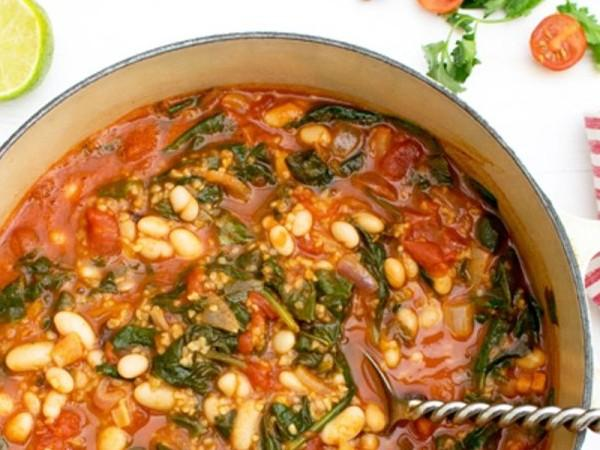 Spinach & Bean Chipotle Casserole Healthy Recipe