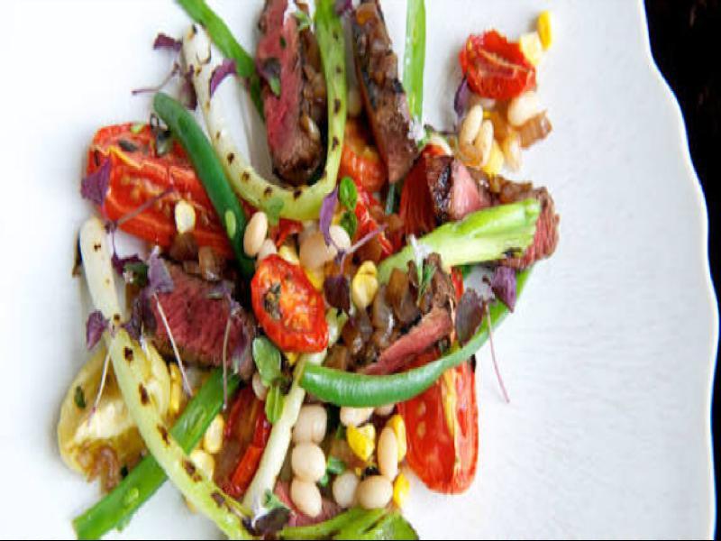 Steak With Tomato Bean Salad Healthy Recipe