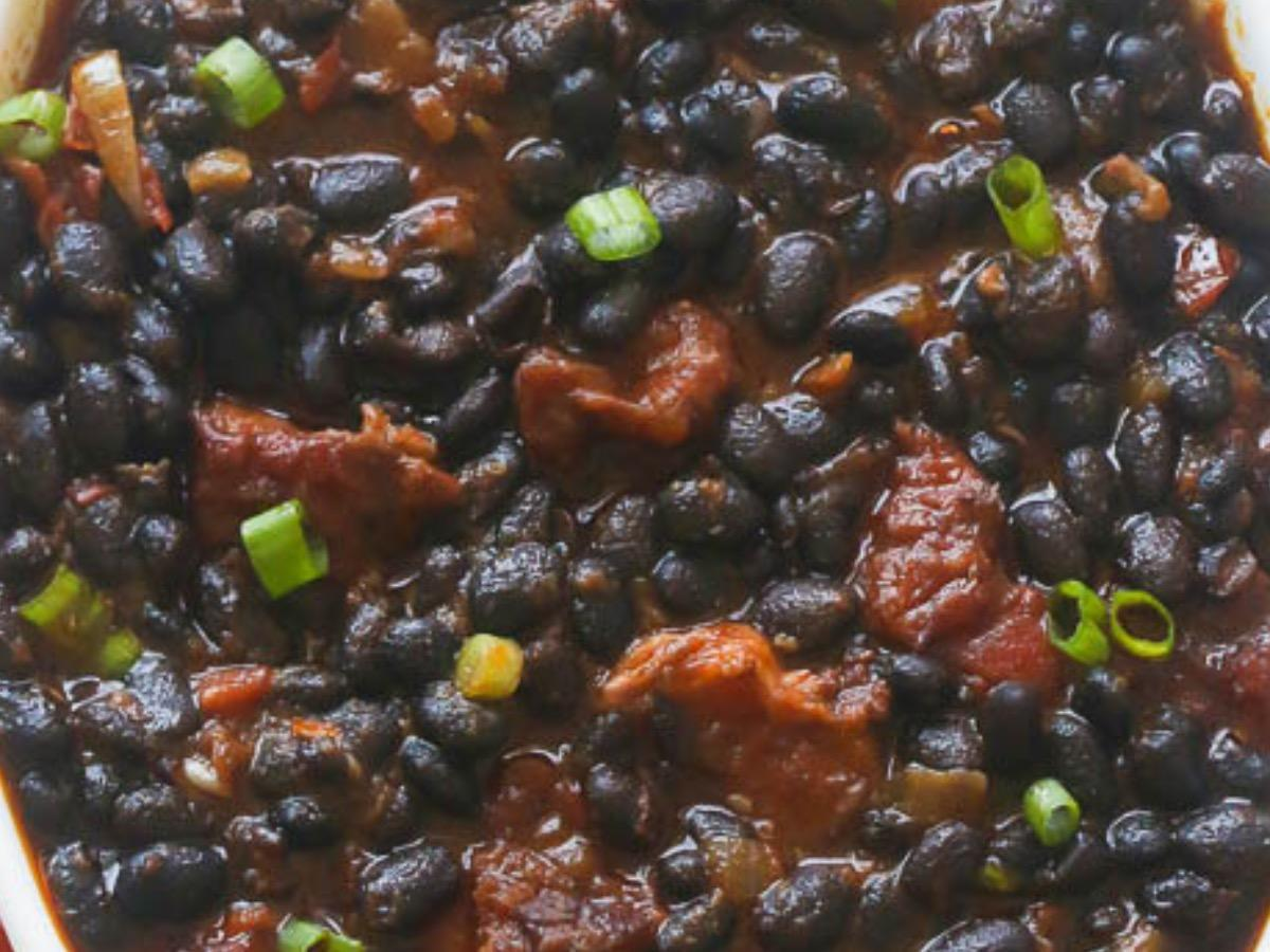 Stewed Tomato Black Beans Healthy Recipe