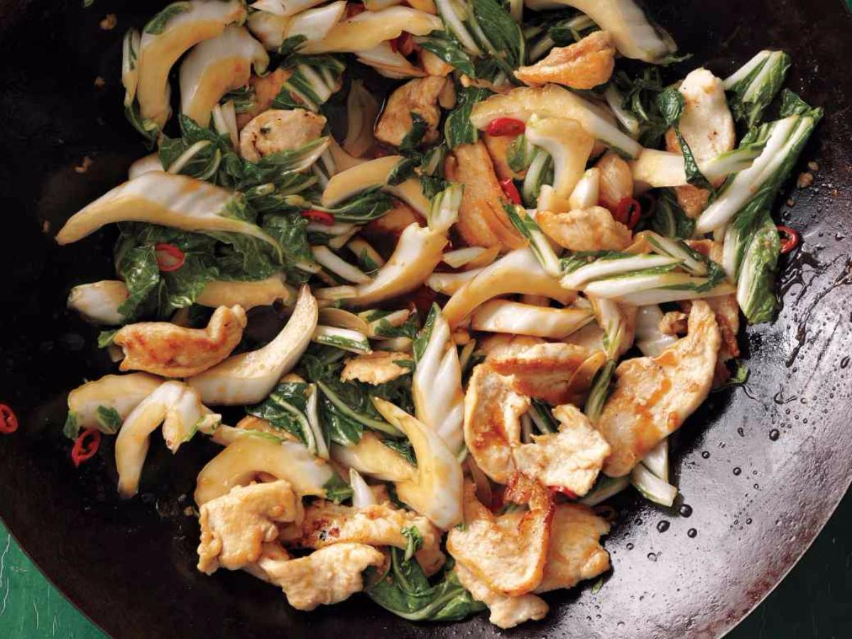 Stir Fried Chicken with Bok Choy Healthy Recipe