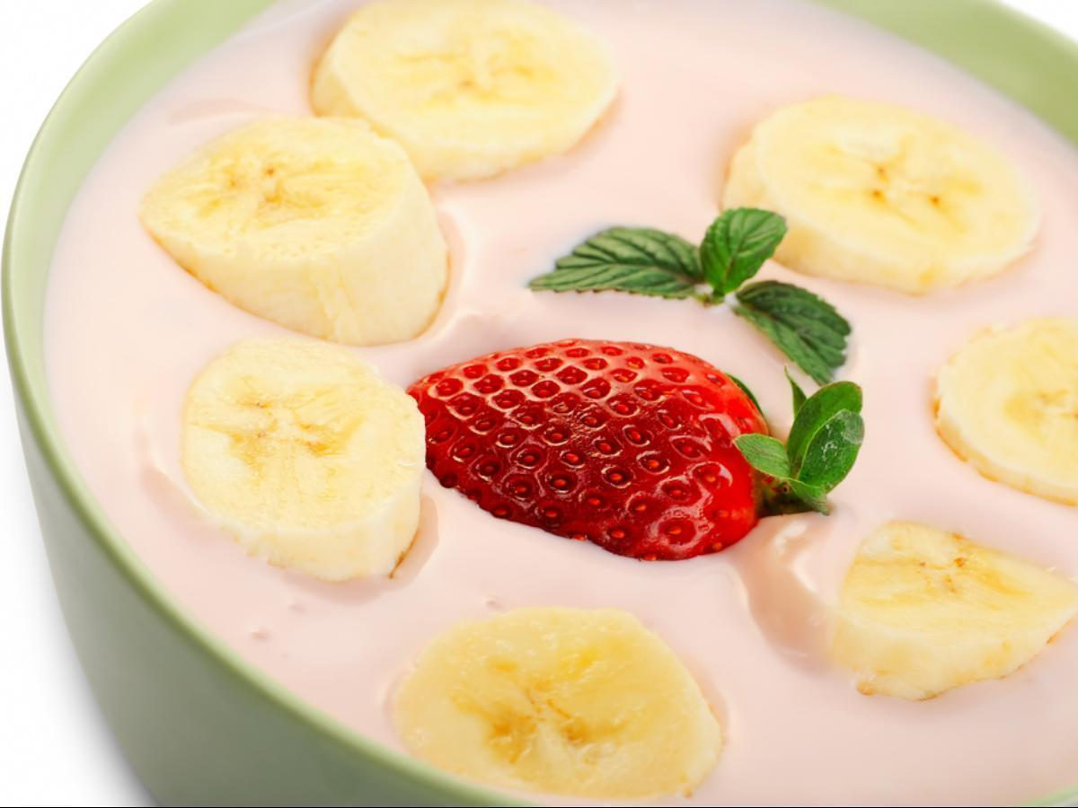 Strawberry Banana Greek Yogurt with Honey Healthy Recipe