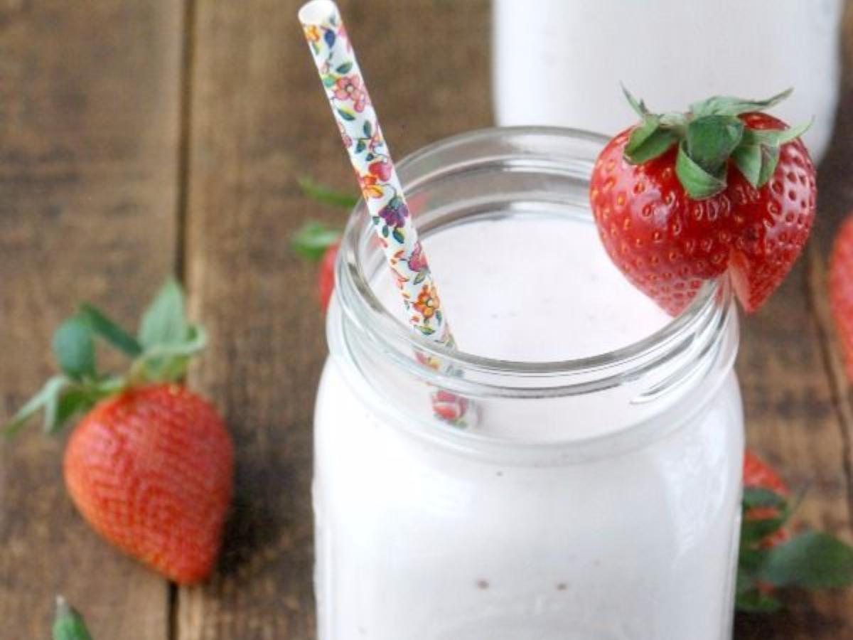 Strawberry Cheesecake Pudding Protein Shake Healthy Recipe