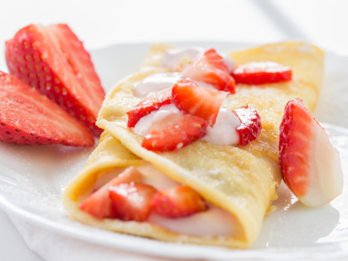 Strawberry Crepes Healthy Recipe
