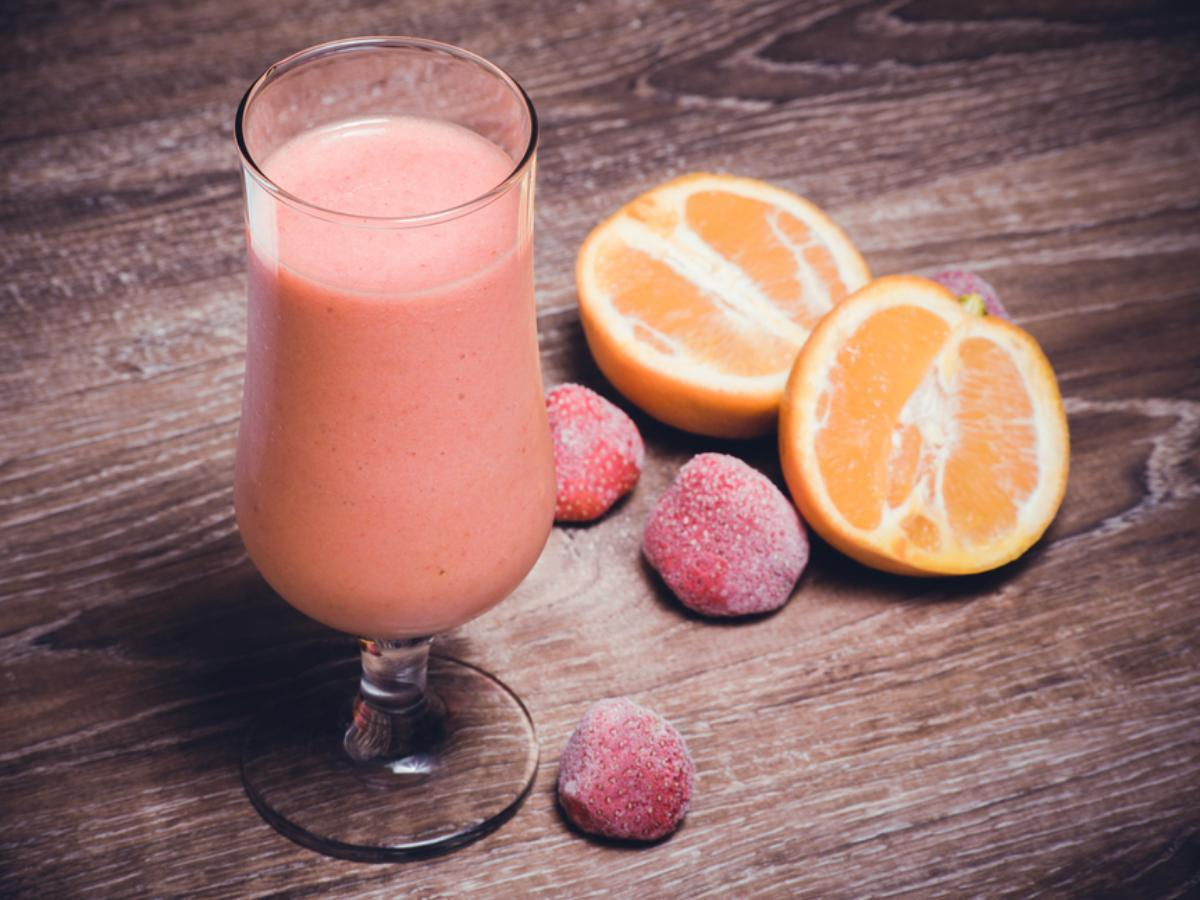 Strawberry Orange Yogurt Smoothie Healthy Recipe