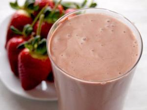 Strawberry protein smoothie Healthy Recipe