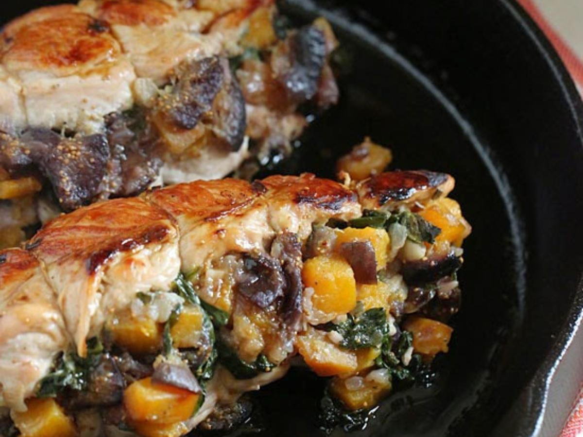 Stuffed Turkey Breasts with Butternut Squash and Figs Healthy Recipe