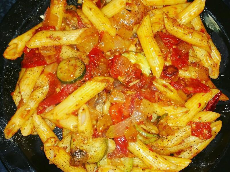Sundried Tomato and Mushroom Pasta Healthy Recipe