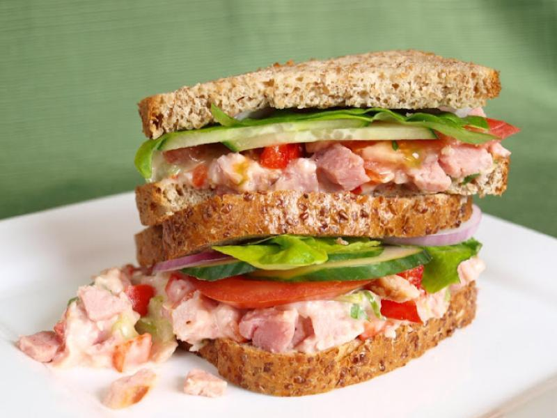 Sweet Chili Ham Salad Sandwich  Healthy Recipe