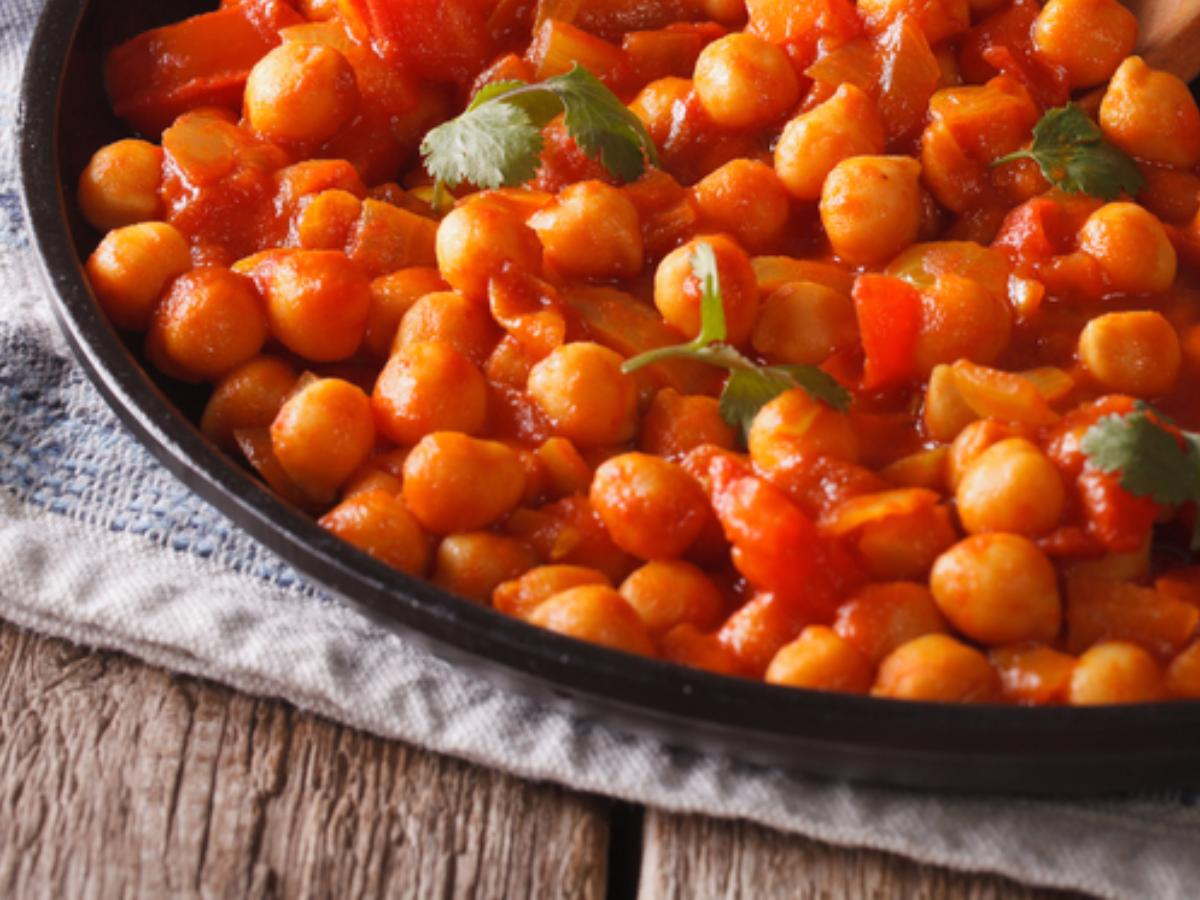 Sweet & Sour Chickpeas Healthy Recipe