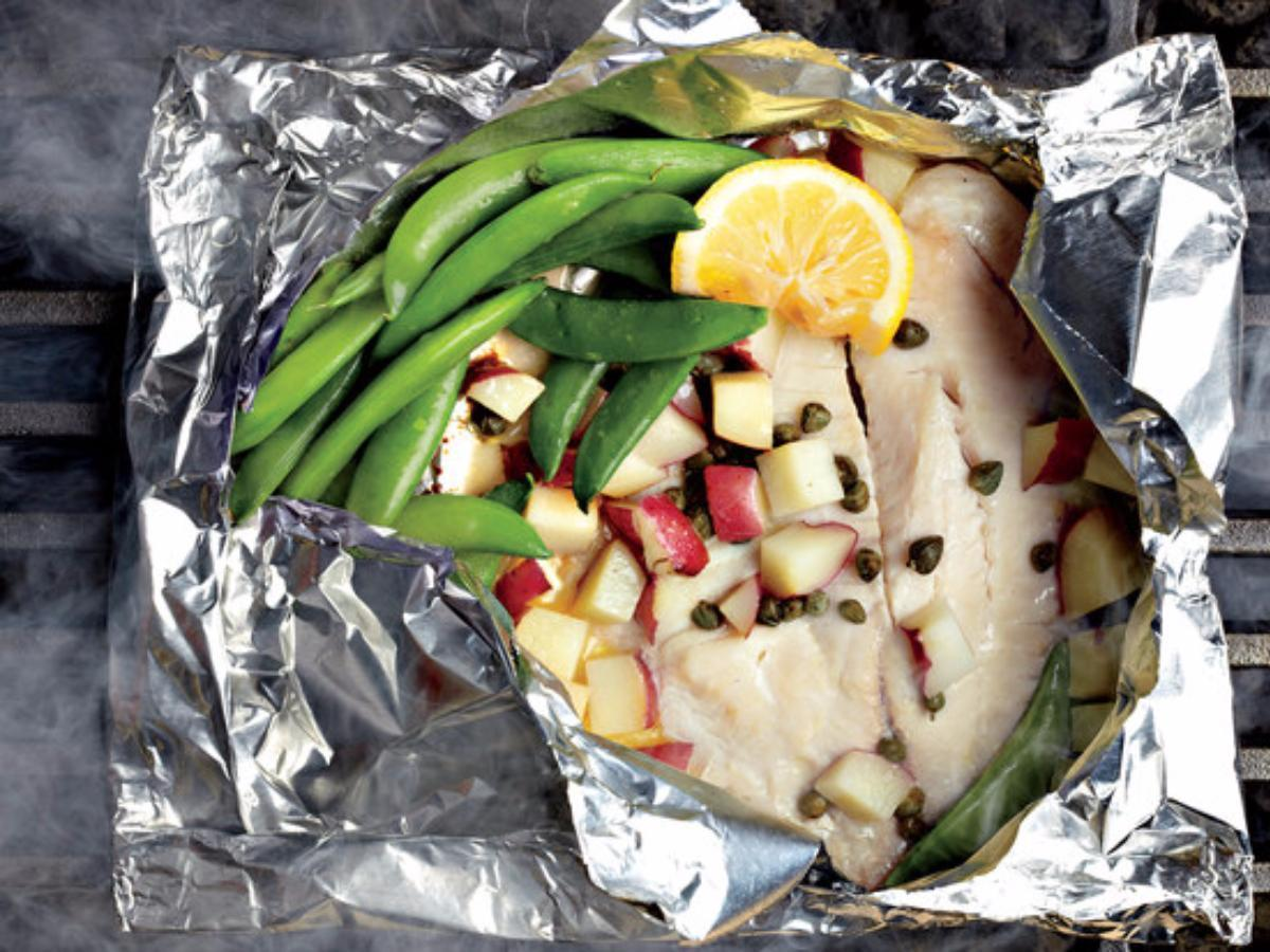 Tilapia Piccata with Snap Peas Healthy Recipe