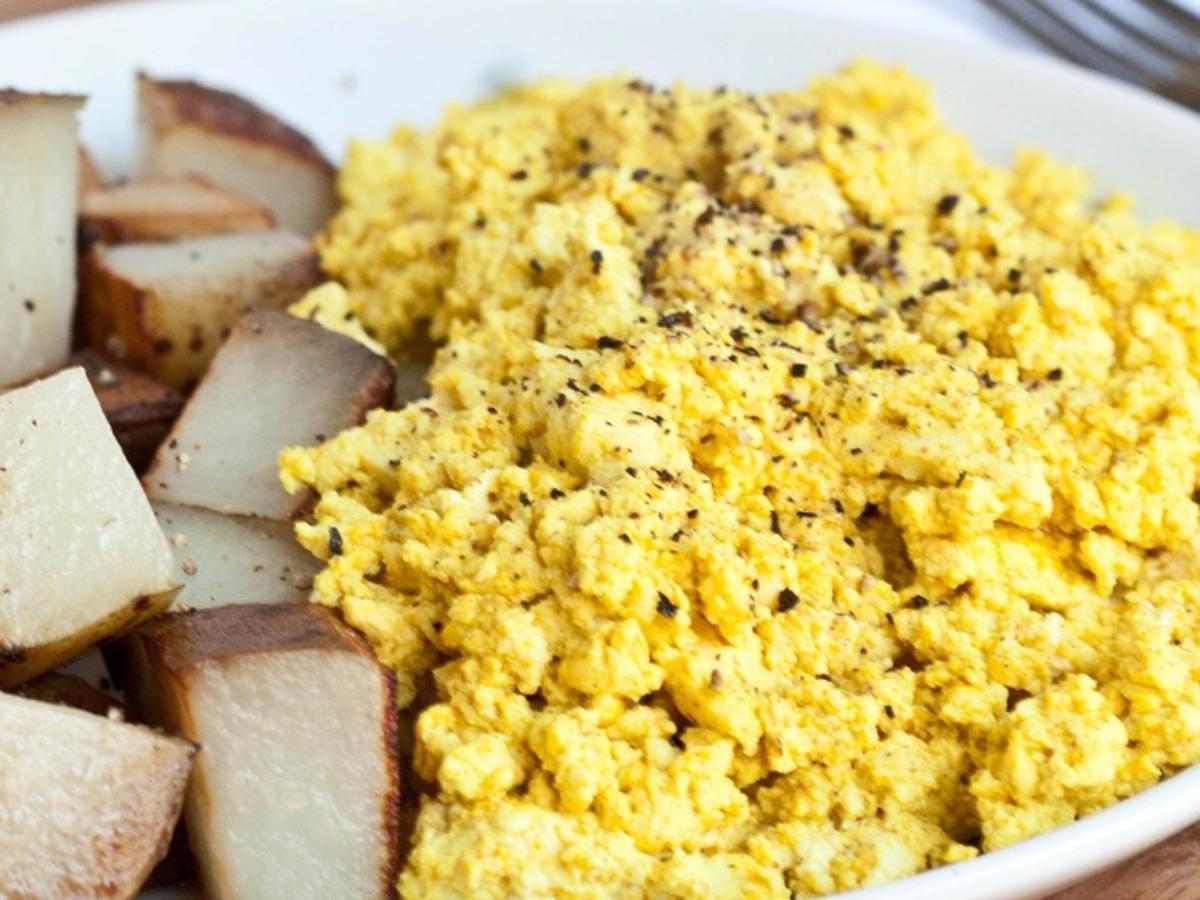 Tofu Eggs Healthy Recipe
