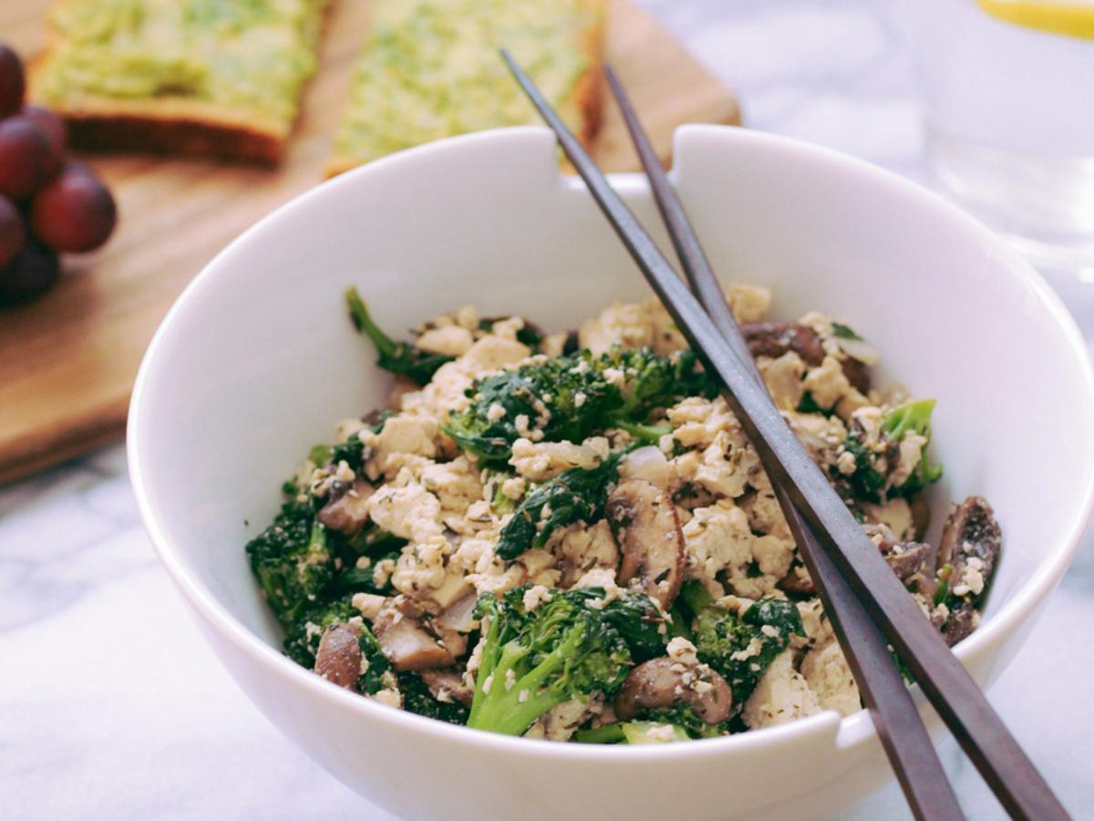 Tofu Scramble and Avocado Toast Healthy Recipe