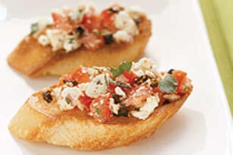 Tomato and Feta Bruschetta Healthy Recipe