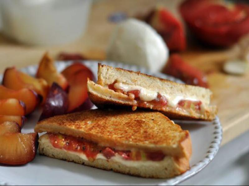 Tomato Mozzarella Sandwich Healthy Recipe