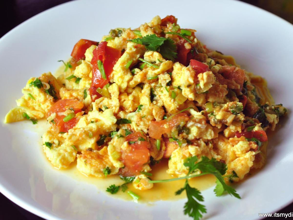 Tomato Scrambled Eggs Healthy Recipe