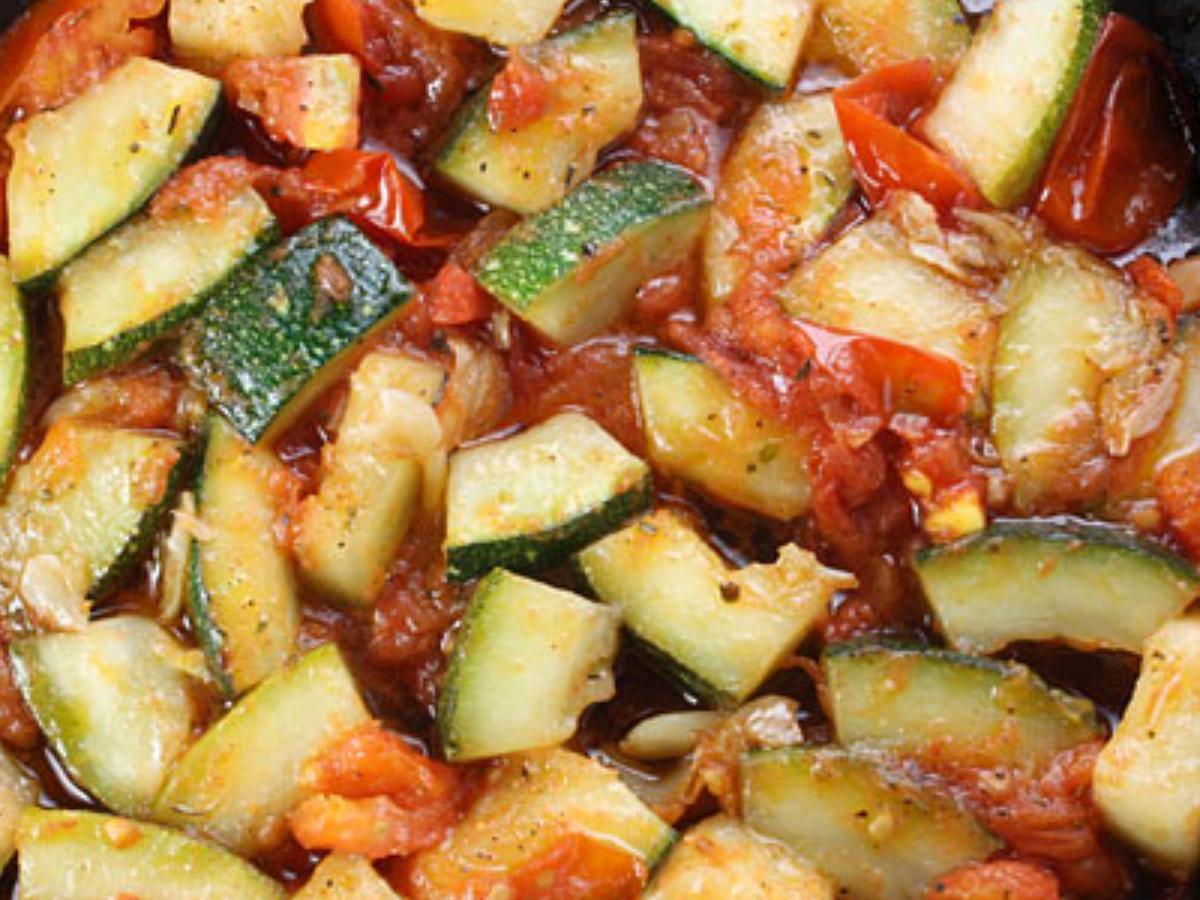 Tomato Zucchini Healthy Recipe