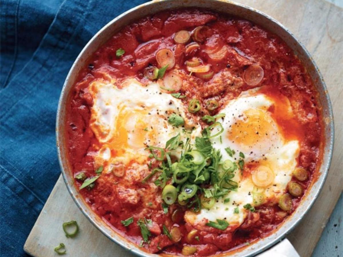 Tomatoes, Eggs, and Chorizo  Healthy Recipe