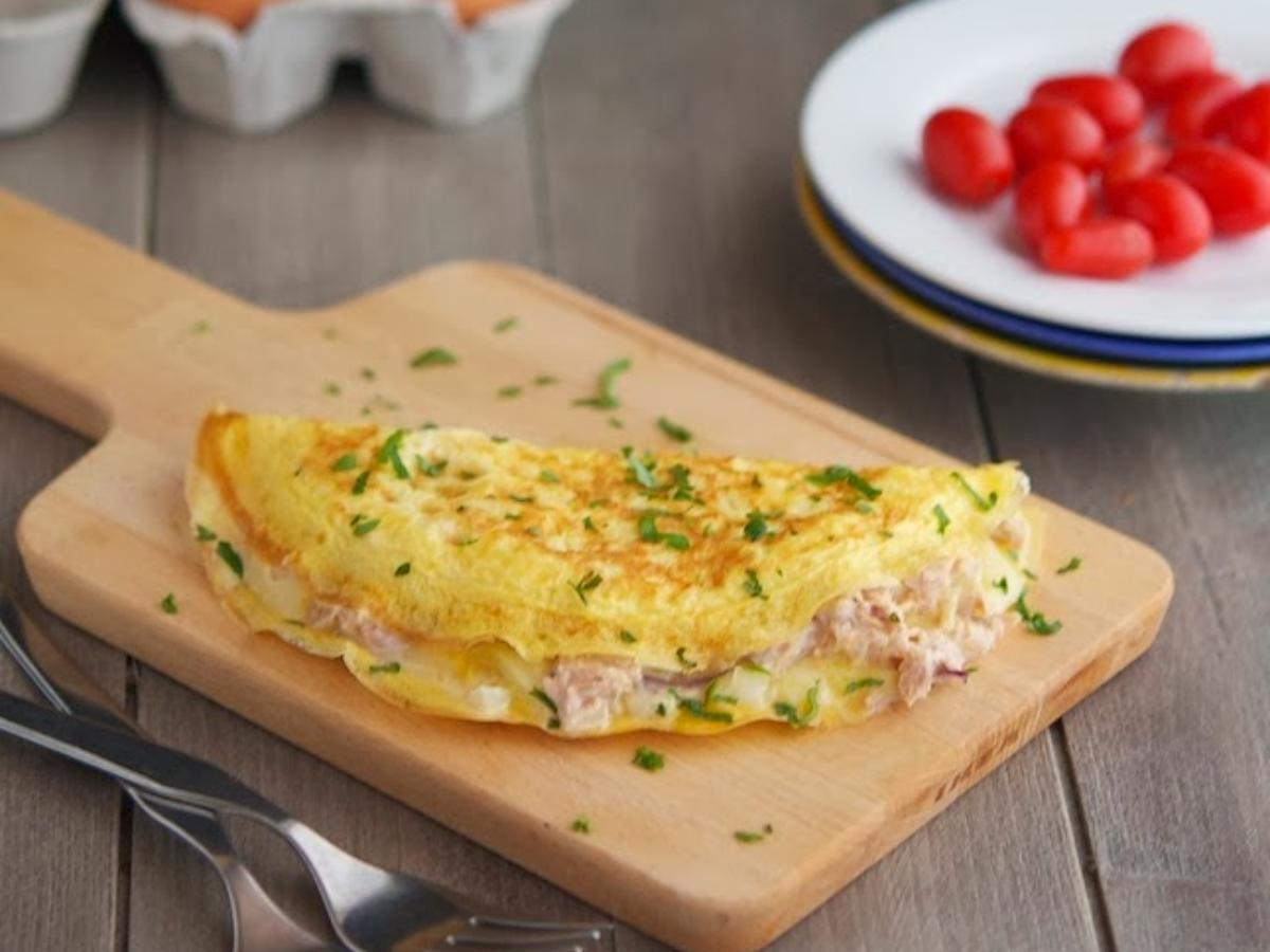 Tuna Melt Omelet Healthy Recipe